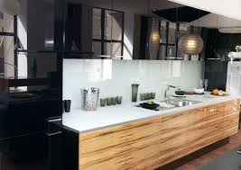 High Gloss Kitchen Cabinets Beautiful Kitchens Black Kitchen Interior With A Touch Of Nature