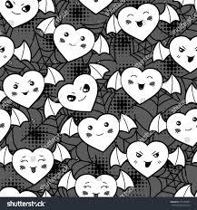 free repeatable halloween background seamless halloween kawaii cartoon pattern cute stock vector