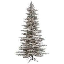 7 5ft pre lit artificial tree flocked wyoming snow
