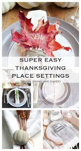 easy thanksgiving place setting ideas whiteaker