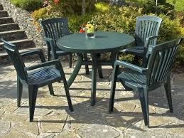 Patio Furniture Round Table by Patio 3 Plastic Patio Furniture With Small Green Round Table