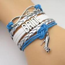 blue bracelet images Infinity love blue silver wedding party bracelets 50 off sale jpg