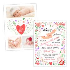 baby announcement cards colourful floral baby announcement cards pack of 10