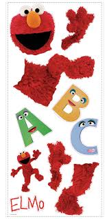 roommates rmk1482gm sesame street elmo peel u0026 stick giant wall