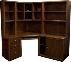 Solid Wood Corner Desk With Hutch Desk With Bookcase Hutch Best Shower Collection
