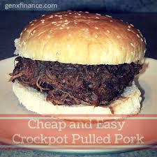 Cheap But Good Dinner Ideas Crock Pot Bbq Pulled Pork Recipe Crockpot Pulled Pork Gen X Finance