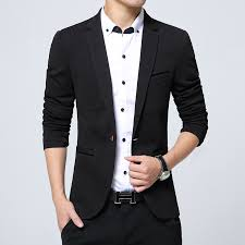 wedding dresses for men new 2018 autumn fashion slim fit single breasted solid blazer men