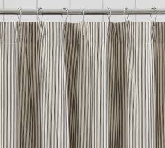 Ticking Stripe Curtains Tremendous Ticking Stripe Shower Curtain Lovable Striped Curtains