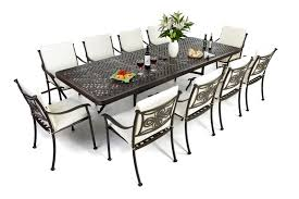 outdoor table that seats 12 dining 10 seat dining table set