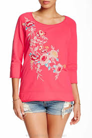Clothes Like Johnny Was Jwla By Johnny Was Embroidered Sweater Fuschia Women Boutique