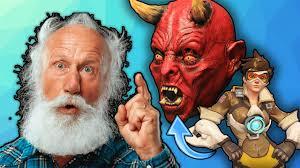 crazy religious old man describes overwatch heroes 3 youtube