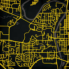 Iowa State Campus Map by University Of Iowa Campus Map Art City Prints
