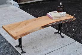live edge table west elm american elm live edge coffee table w 1890 s cast iron legs covet