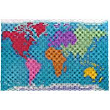 Do Continents Have Flags Map Of The Continents Perler Beads