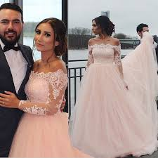 high quality wedding party dress light pink bateau tulle with