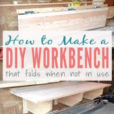 Diy Workbench Free Plans Diy Workbench Workbench Plans And Spaces by 25 Unique Folding Workbench Ideas On Pinterest Home Based