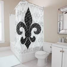 Fleur De Lis Shower Curtains New Orleans Shower Curtains Zazzle
