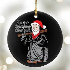 a smashing santa negan the walking dead