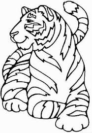 tiger coloring pages kids print color pictures