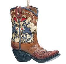cowboy boot ornaments pole west cowboy