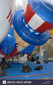 inflating the balloons for the macy s thanksgiving day