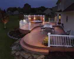 Backyard Lighting Ideas For A Party by Decks Archadeck Outdoor Living
