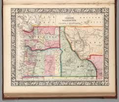 Map Of Montana by Map Of Oregon Washington Idaho And Part Of Montana David