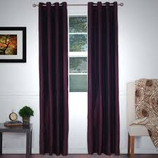 Eclipse Blackout Curtains Lavish Home Black Polyester Grommet Curtain 56 In W X 84 In L