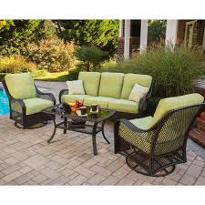 Patio Furniture Sets With Fire Pit - chair furniture conversation patio sets with swivel chairs