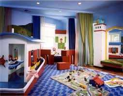 decorations elegant kids playroom decor with blue modern carpet