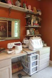 431 best sewing and craft rooms ii images on pinterest sewing same wall color of our office might do this in one of the closets when i get a sewing machine
