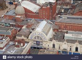 blackpool winter gardens from blackpool tower skywalk stock photo