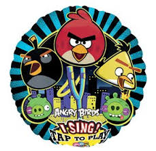 singing birthday balloons angry birds black happy birthday party sing a tune