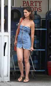 katie holmes films a scene at walmart for her new movie all we had