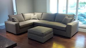 our custom ordered maddox sectional in graphite fabric from
