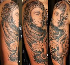 chest and half sleeve tattoos awesome buddha spiritual tattoo on chest for men