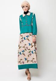 Pakaian Gamis Terbaru 2016 model baju gamis batik kombinasi terbaru desain unik