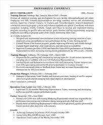 Sample Resume For Trainer Position by Sample Bpo Resume 5 Documents In Word Pdf