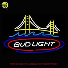 bud light neon light bud light san francisco bridge beer light neon sign hand craft