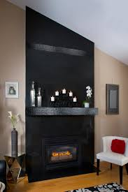 a contemporary fireplace in el capitan gray blend the black black