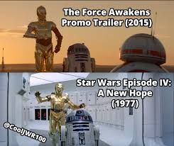 R2d2 Memes - small comparison between 1977 and 2015 c3po and r2d2 starwars