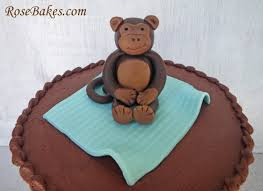 monkey cake topper bakes