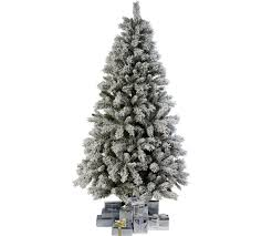 buy collection 6ft snow covered tree green at argos co