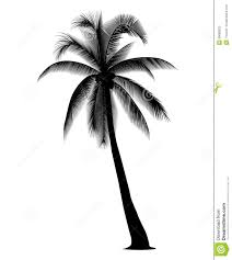 black clipart coconut tree pencil and in color black clipart