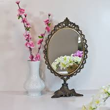 Vanity Stand Mirror 19 5 U0027 U0027 Table Mirror Makeup Mirror On Stand By Cozytraditions