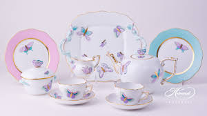 tea set tea set with cake plate for 2 persons royal garden herend experts