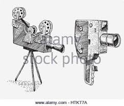 evolution of the photo video film movie camera from first till