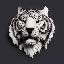 aliexpress buy abstract white tiger sculpture wall