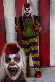 new 2017 scary clown halloween prop angry clown