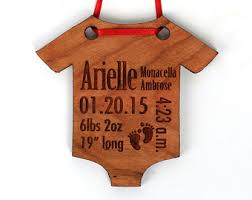 personalized baby s ornament solid wood